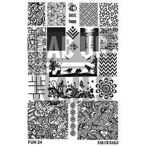 Fab Ur Nails- Stamping Plate- FUN24