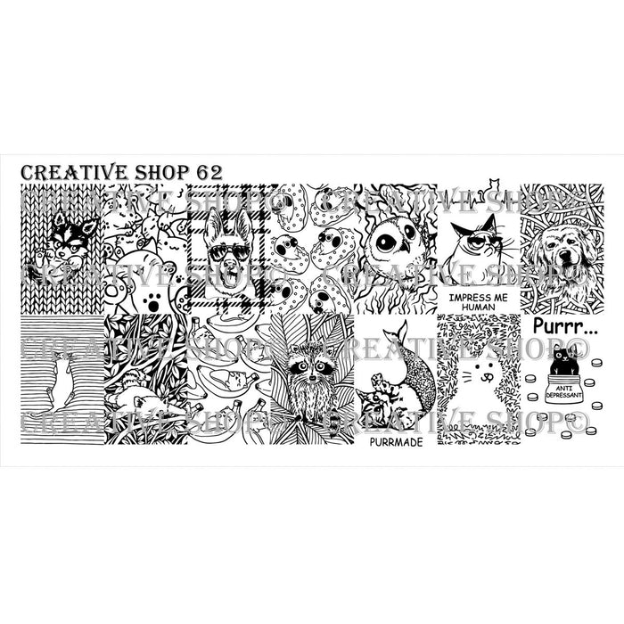 Creative Shop- Stamping Plate- 062