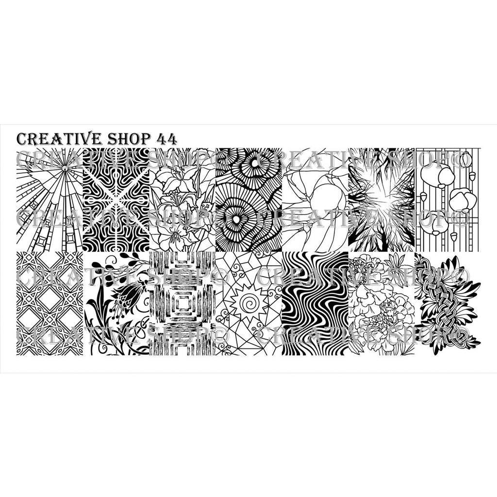 Creative Shop- Stamping Plate- 044