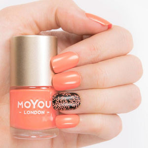 MoYou London- Stamping Polish- Cancun Coral
