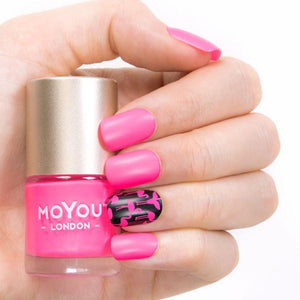 MoYou London- Neon Stamping Polish- Pink Parade