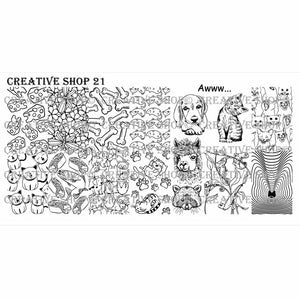 Creative Shop- Stamping Plate- 021
