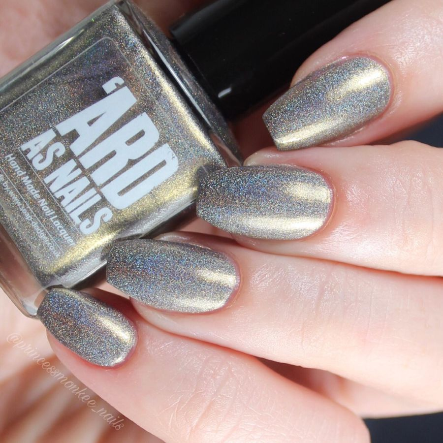 Ard as Nails Bull Shift grey shimmer holographic nail polish