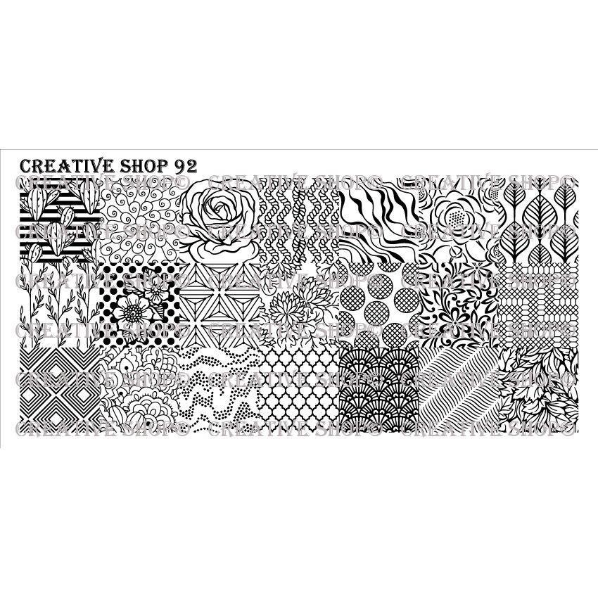 Creative Shop- Stamping Plate- 092