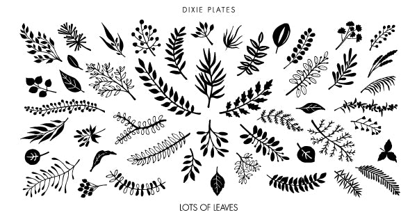 Dixie Plate Lots of Leaves 01 Mini Plate