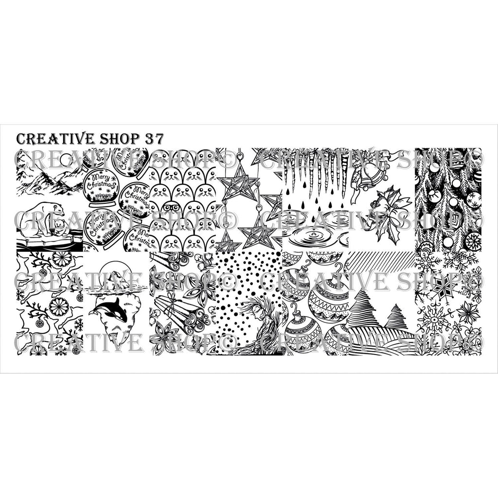 Creative Shop- Stamping Plate- 037