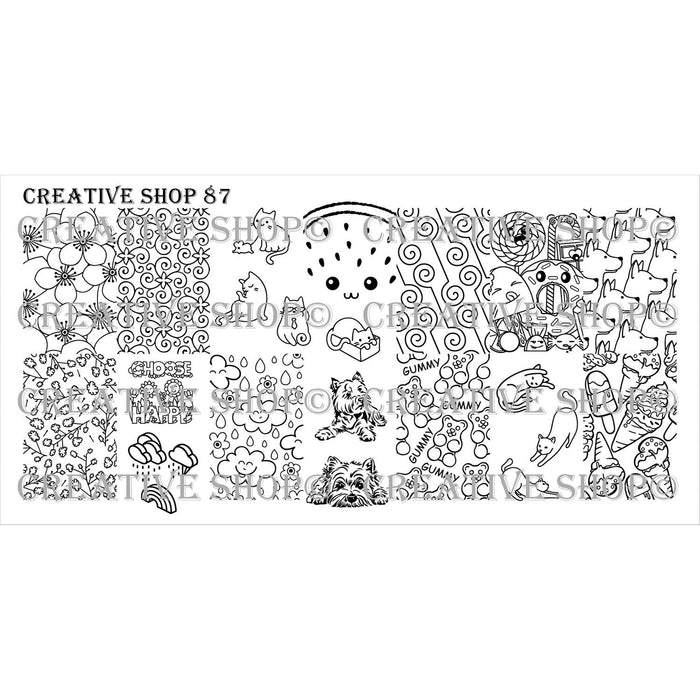 Creative Shop- Stamping Plate- 087