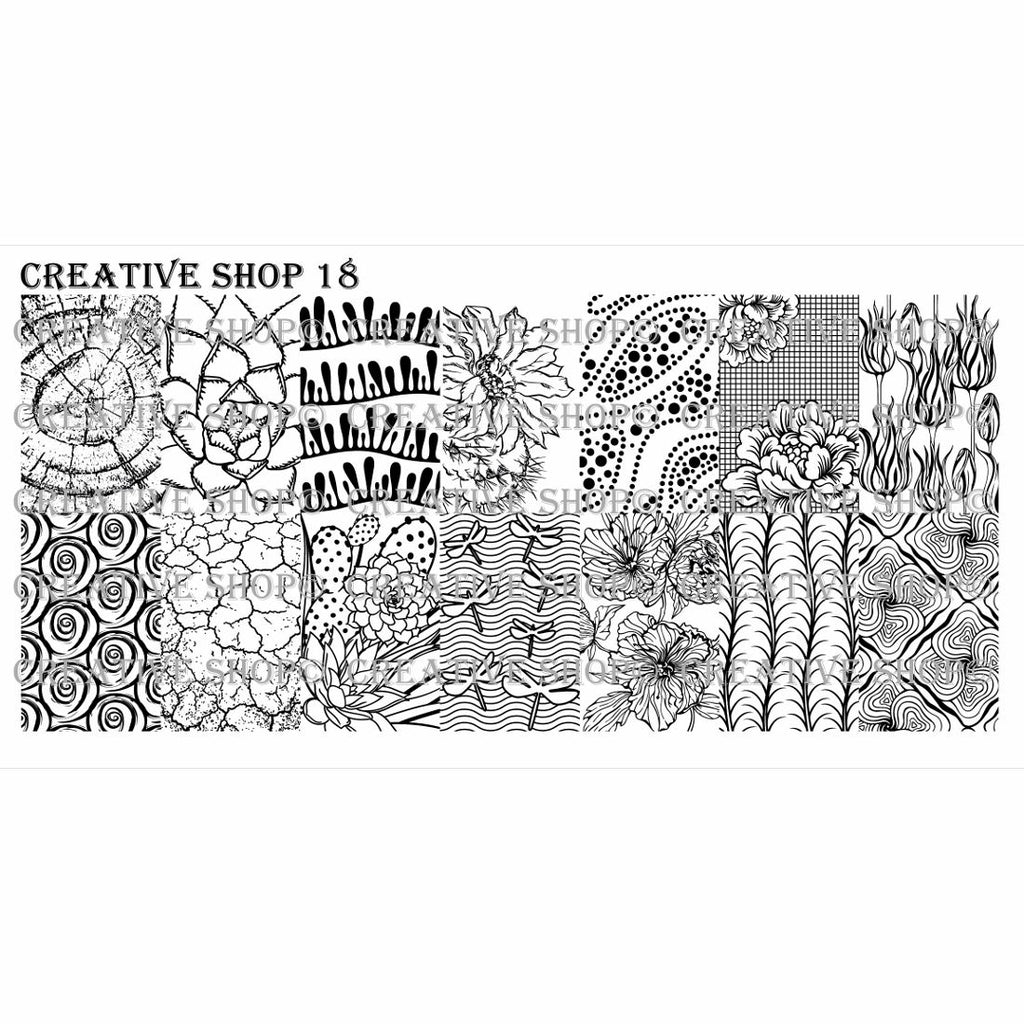 Creative Shop- Stamping Plate- 018