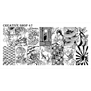 Creative Shop- Stamping Plate- 047. Available at www.beautometry.com.
