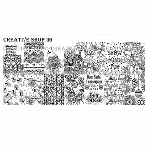 Creative Shop- Stamping Plate- 036