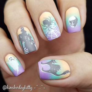 haunted mansion nail art