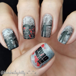 walking dead nail art