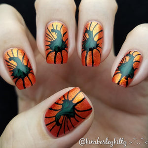 creative shop pumpkin nail art