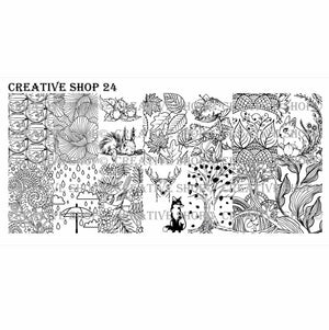 Creative Shop- Stamping Plate- 024