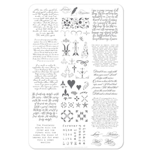 Clear Jelly Stamper- The Poet (CjS-39)