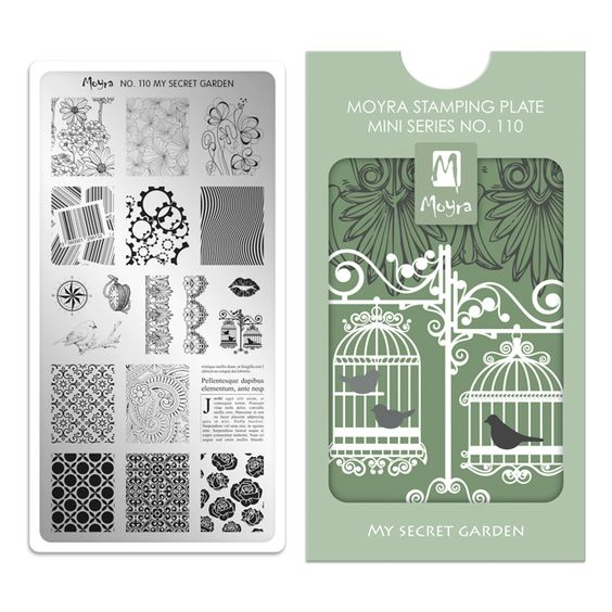 Moyra Mini Stamping Plate 110- My Secret Garden