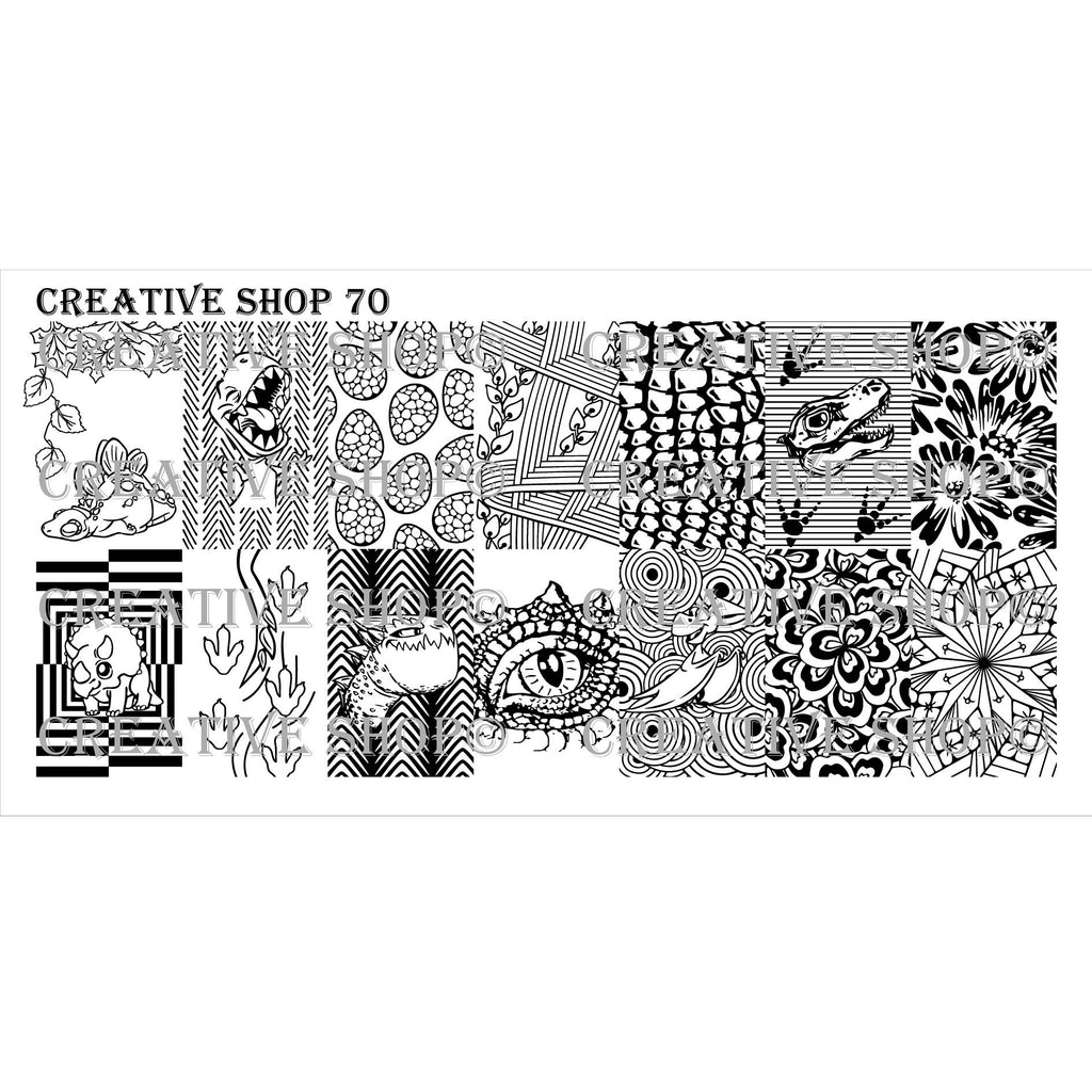 Creative Shop- Stamping Plate- 070