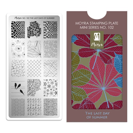Moyra Mini Stamping Plate 102- The Last Day of Summer