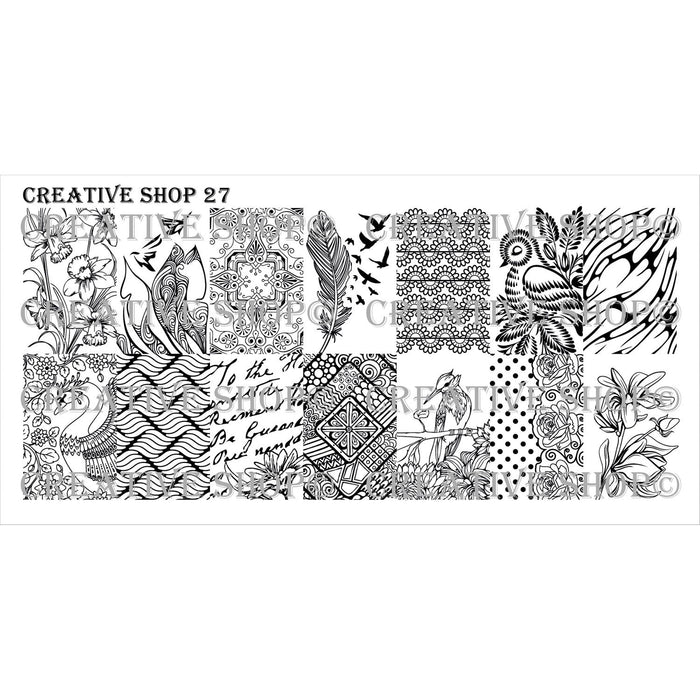 Creative Shop- Stamping Plate- 027