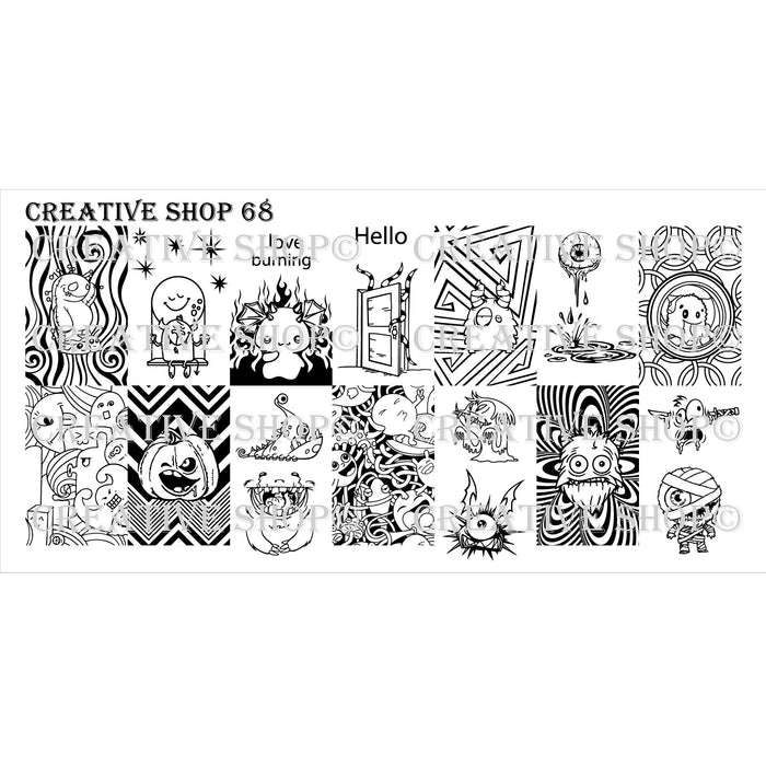 Creative Shop- Stamping Plate- 068