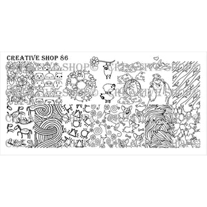 Creative Shop- Stamping Plate- 086