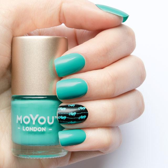 MoYou London- Stamping Polish- Electric Teal