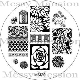 Messy Mansion Image Plate MM20