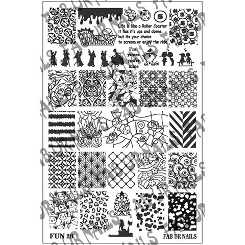 Fab Ur Nails- Stamping Plate- FUN20