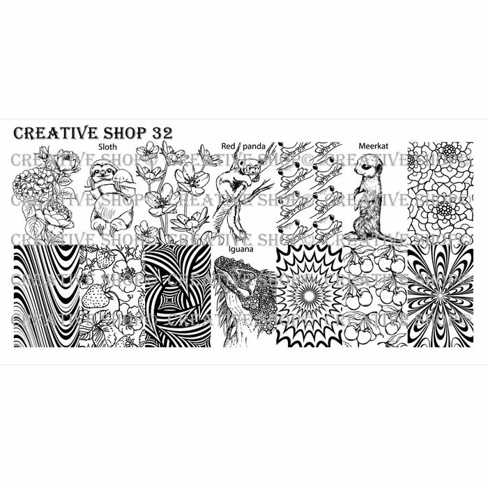 Creative Shop- Stamping Plate- 032