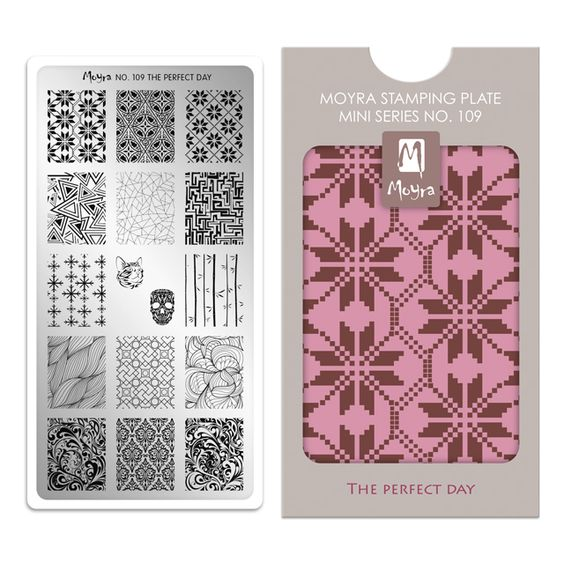 Moyra Mini Stamping Plate 109- The Perfect Day