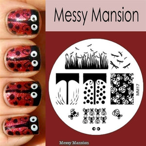 Messy Mansion Image Plate MM17
