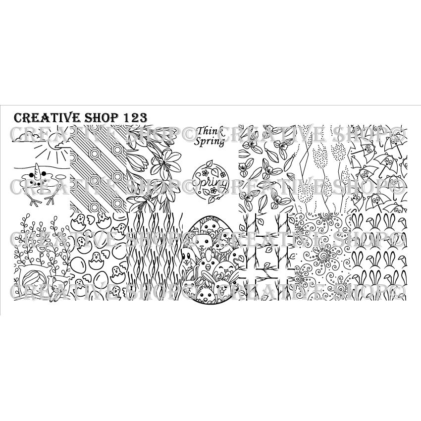Creative Shop- Stamping Plate- 123