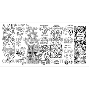 Creative Shop- Stamping Plate- 080