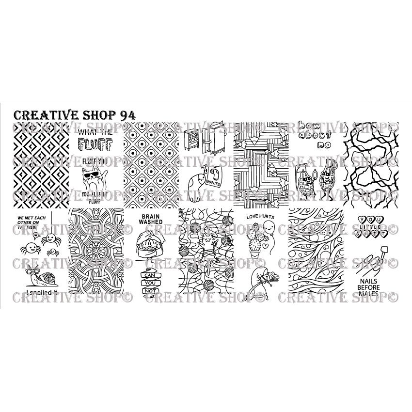 Creative Shop- Stamping Plate- 094