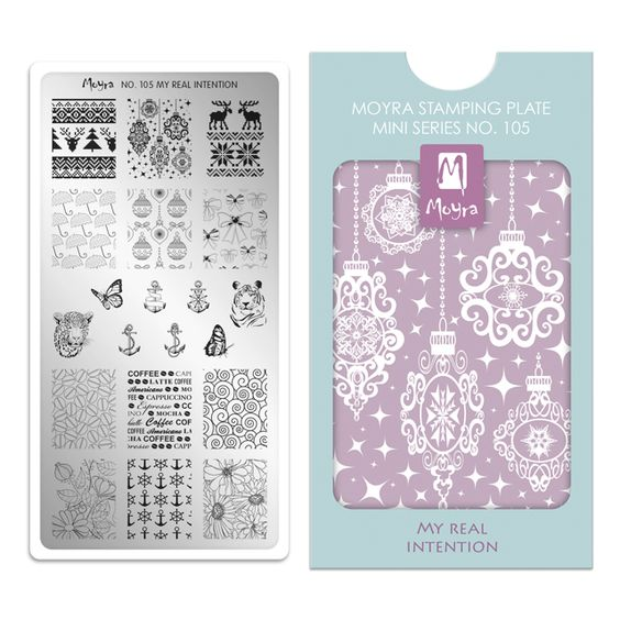 Moyra Mini Stamping Plate 105- My Real Intention