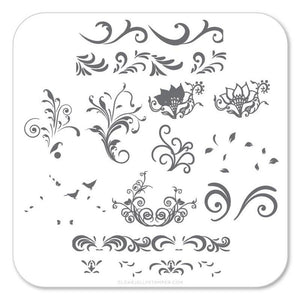 Clear Jelly Stamper- Petit Swirls (CjS-49)