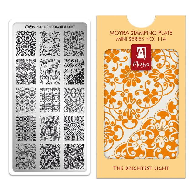 Moyra Mini Stamping Plate 114- The Brightest Light