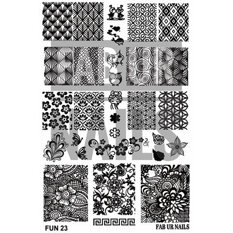 Fab Ur Nails- Stamping Plate- FUN23
