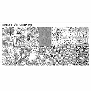 Creative Shop- Stamping Plate- 029