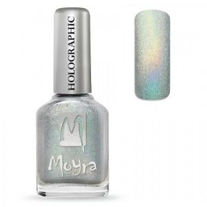 Moyra Holographic Effect Nail Polish- No251 Silver