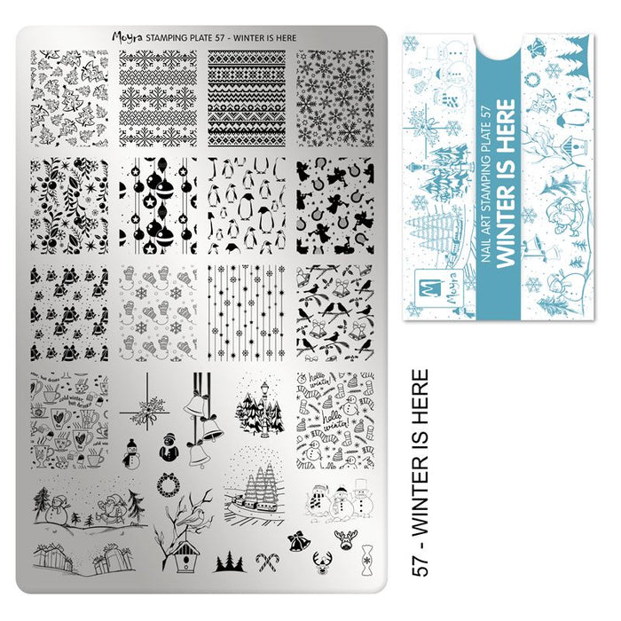 Moyra Stamping Plate 057- Winter is Here