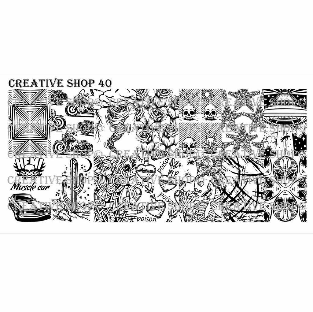 Creative Shop- Stamping Plate- 040