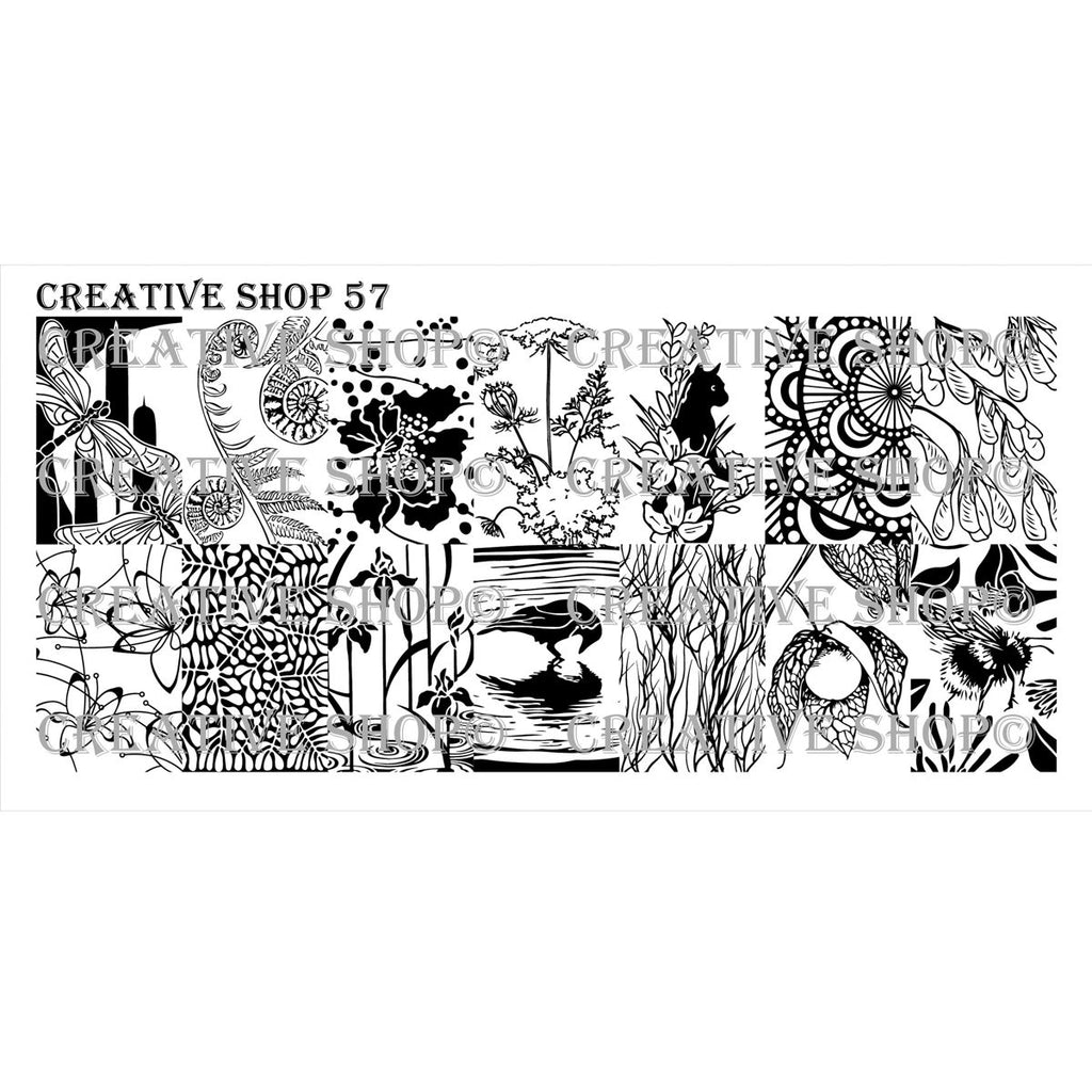 Creative Shop- Stamping Plate- 057