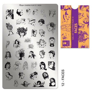 Moyra Stamping Plate 12 - Faces
