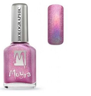 Moyra Holographic Effect Nail Polish- No256 Pink