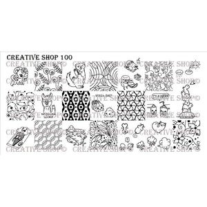 Creative Shop- Stamping Plate- 100