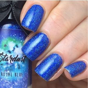 Esmaltes da Kelly- Stardust- Royal Blue