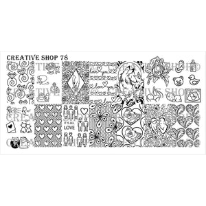 Creative Shop- Stamping Plate- 078