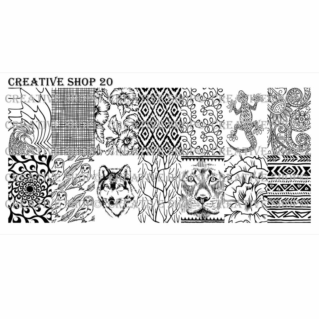 Creative Shop- Stamping Plate- 020
