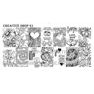 Creative Shop- Stamping Plate- 061